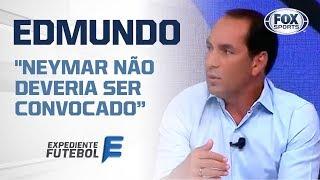 """""""ELE NÃO DEVERIA SER CONVOCADO"""", Diz Edmundo de Neymar após soco em torcedor"""