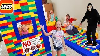 Giant Lego Fort Game Master, Escape Rooms, and Boys Only! The Movie!!!