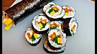 How to make Kimbap (Gimbap) | Lunch Box Ideas | Kimbap recipe
