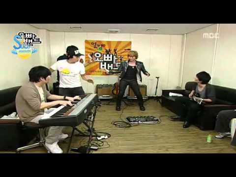 Heechul was forget lyric of sorry sorry song..