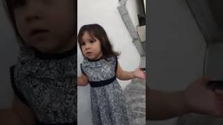Niña pelea con papa(Oriana)