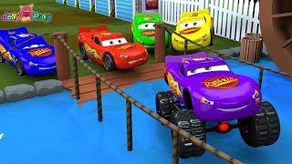 Learning Color Special Lightning McQueen Monster car water play for kids car toys