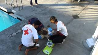 Lifeguarding Drill: 3-Rescuer CPR/AED and BVM Position with 1 Rescuer Removed Part 6