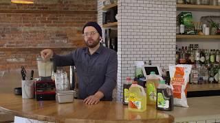 Chef Brett Sawyer at Plum Kitchen & Café...