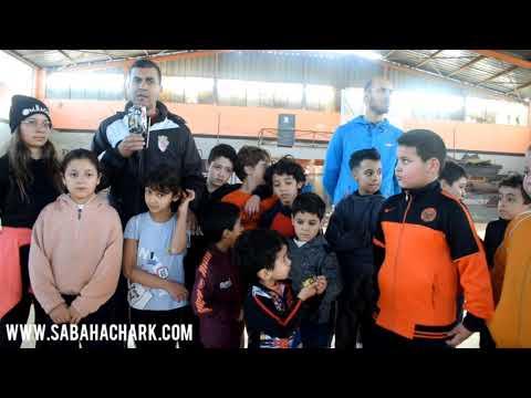 تداريب الفئات الصغرى لمدرسة فريق نهضة بركان لكرة السلة