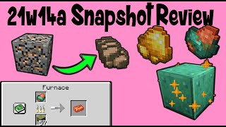 New Raw Ore Items! 1.17 Minecraft Cave Update (21w14a Review)