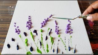 Lavender Field / Simple Floral / Abstract Painting Demonstration / Project 365 days / Day #0362