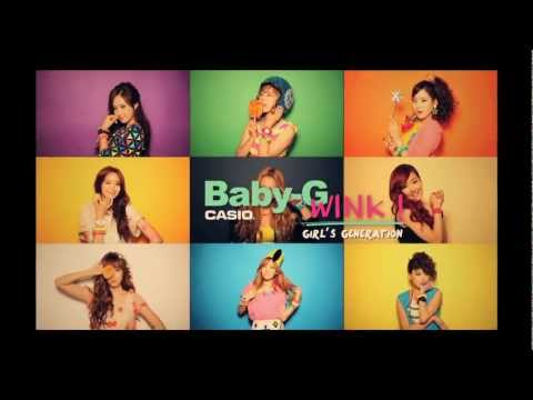 Baby-G & SNSD(소녀시대) WINK 캠페인 공개!