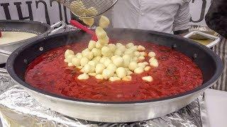 "Italian Potato Dumpligs, ""Gnocchi"" with Great Sauces. London Street Food"