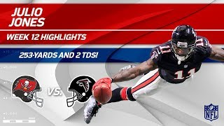Julio Jones Goes Off for 253 Yards, 12 Catches & 2 TDs! | Bucs vs. Falcons | Wk 12 Player Highlights