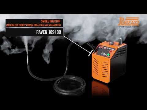 Máquina de Fumaça Smoke Injector Detectar Vazamento Automotivo Raven - Vídeo explicativo