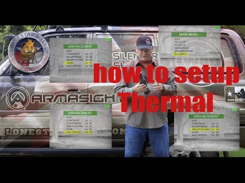 ARMASIGHT THERMAL SCOPE SETUP HOW TO