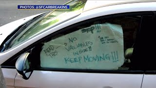 Drivers Post Signs in Car Windows to Dissuade Smash-and-Grab Burglars