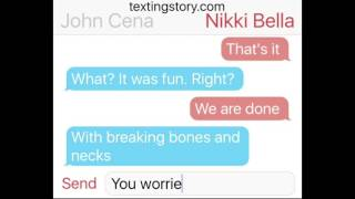 "John Cena and Nikki Bella ""Breaking Up"" (FAKE)"