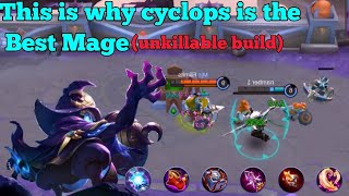 "Cyclops ""Unkillable Mvp Build"" - Insane lifesteal - Mobile Legend Gameplay -"