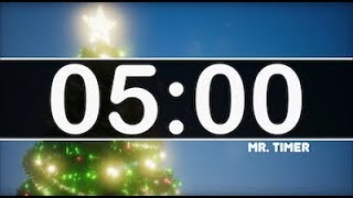 5 Minute Timer with Piano and Jazz Music - Christmas  Instrumental for Kids!