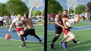 This Dude GRABBED Me! 5v5 Basketball At The Park!