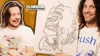 BLIND Portrait Drawing - Ten Minute Power Hour
