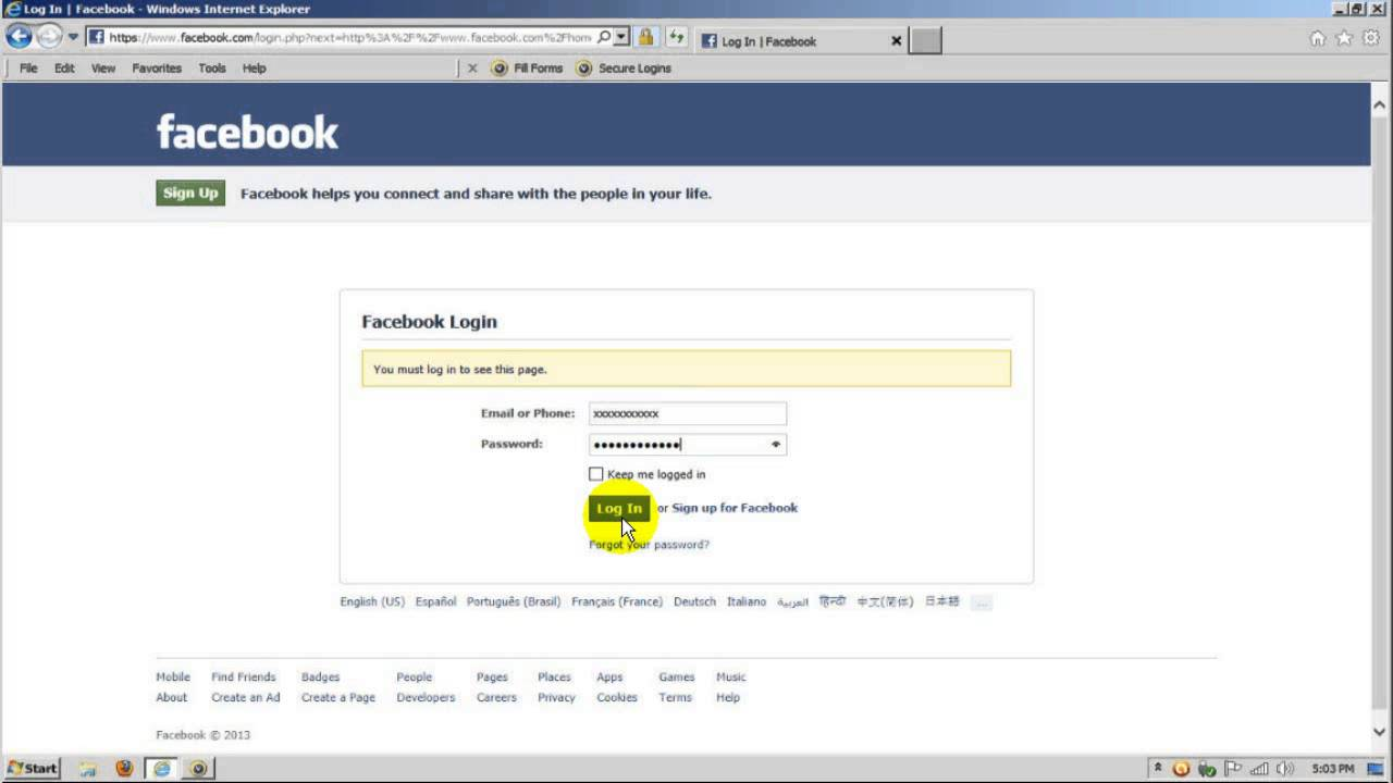 Facebook Login - Sign in, Sign up and Log in - YouTube