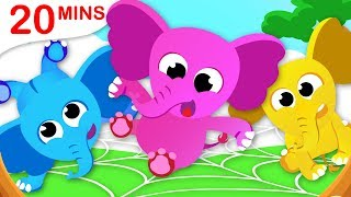 One Elephant Went Out to Play | 5 Little Spiders | Paw Patrol Nursery Rhymes by Little Angel