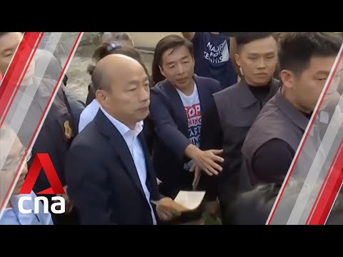 Taiwan election: Kuomintang presidential candidate votes as polls open