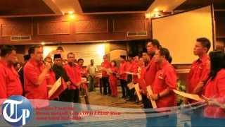 Kericuhan Warnai Pelantikan Pengurus DPD PDIP Riau