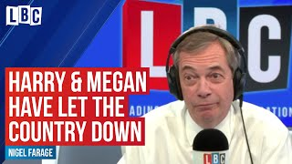 Nigel Farage has some stern words for Meghan and Harry