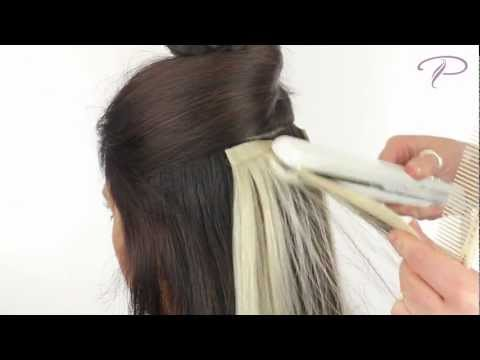 How To Apply And Re Use Seamless Tape Hair Extensions Video From ...