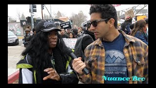 Interviewing Protesters At Black Lives Matter MLK Rally
