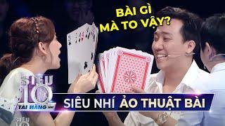 Siêu Nhí 9 tuổi khiến Trấn Thành TÂM PHỤC KHẨU PHỤC với tài ảo thuật bài CỰC ĐỈNH | STNN Tập 8