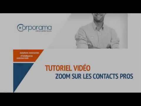 Tuto Corporama - Zoom sur les contacts pros