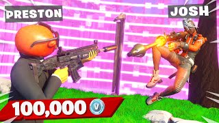EXTREME 100k VBucks Gun Game with My Little Brother! (Fortnite)