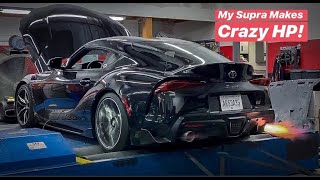 MY BIG TURBO 2020 SUPRA MAKES INSANE POWER!!