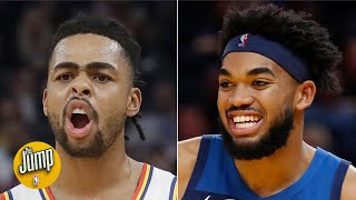 Real-time reaction to Warriors trading D'Angelo Russell to the Timberwolves | The Jump