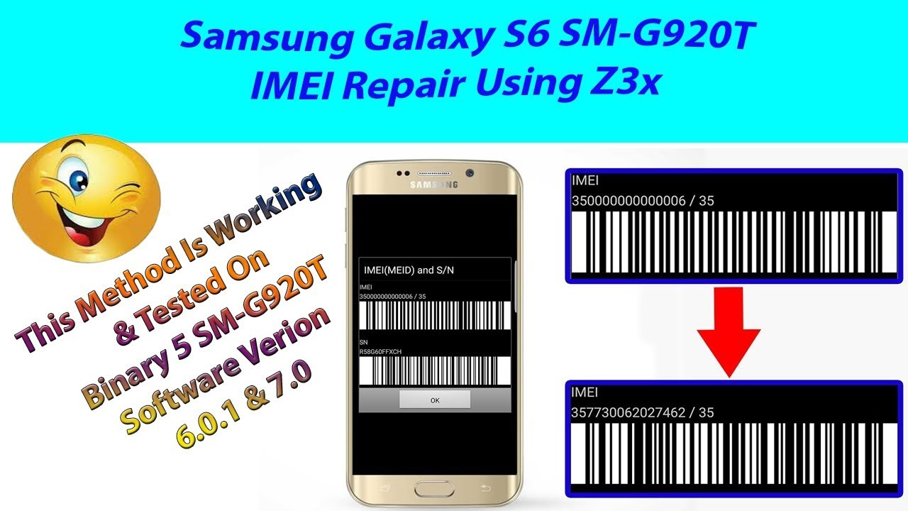 Samsung S6 SM-G920T Imei 35000006 Repair Done Using Z3x #Corner Mobile Lab#