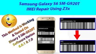 How to repair imei of S6 SM-G920T (imei is 3500000000006 fix