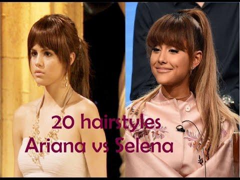 20 hair styles Who wore it better?  Ariana vs Selena