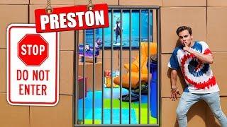 Breaking Into Preston's Cardboard Box Fort!