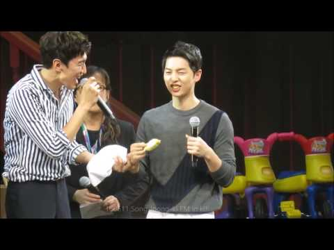 160611 Song Joong-ki FM in HK - Eating Durian + Feeding Kwang-soo
