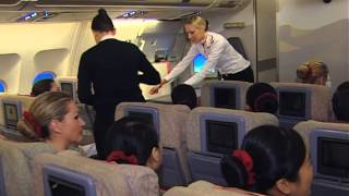 An exclusive behind the scenes look of Emirates Airline's flight attendant training!