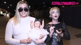 Ryland Adams & Morgan Channel Kris Jenner & Khloe Kardashian While Arriving To Their Makeup Launch