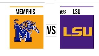 2018 College Basketball Memphis vs #22 LSU Full Game Highlights