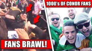 Conor McGregor, Khabib fan altercation at UFC 229 weigh ins; 1000s of McGregor fans in Las Vegas