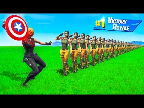 HOW MANY PLAYERS Can 1 AVENGERS SHOT ELIMINATE in Fortnite Battle Royale