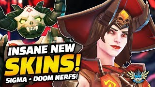 All *NEW* Overwatch Halloween Terror 2019 SKINS! - HUGE Tracer Damage Buff - Doomfist NERF!
