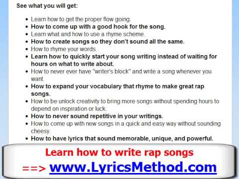 how to write a song lyrics without music
