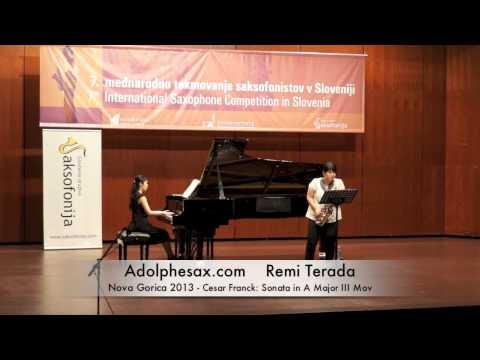 Remi Terada - Nova Gorica 2013 - Cesar Franck: Sonata in A Major III Mov