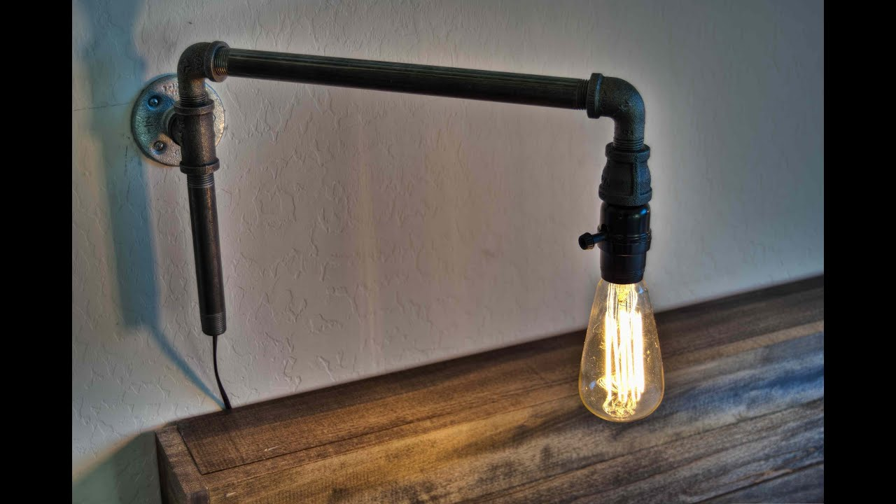 How To Make A Modern Swinging Wall Light From Iron Pipe