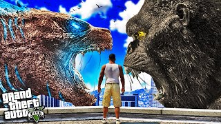 GODZILLA vs KING KONG in GTA 5 (Mods)