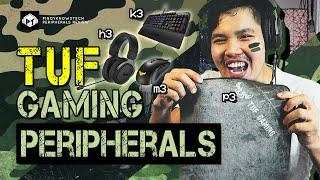 ASUS TUF Gaming Peripherals Lineup- K3 Mechanical Gaming Keyboard, M3 Mouse, P3 Mousepad, H3 Headset